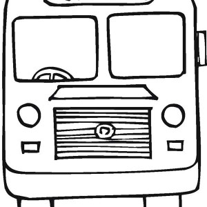 Take A School Bus For First Day Of School Coloring Page