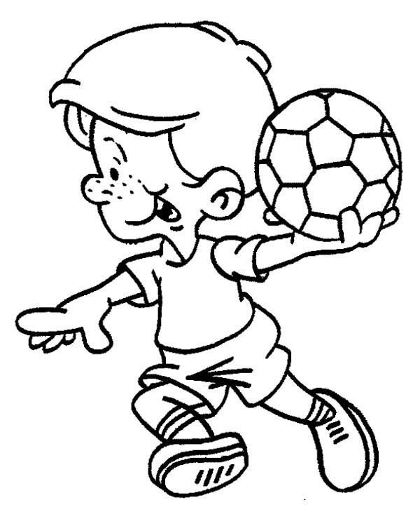 This Little Boy Is Ready To Make A Soccer Throw In ...