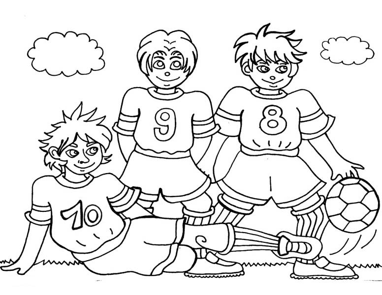 Football Game Coloring Pages - Coloring Home | 600x776