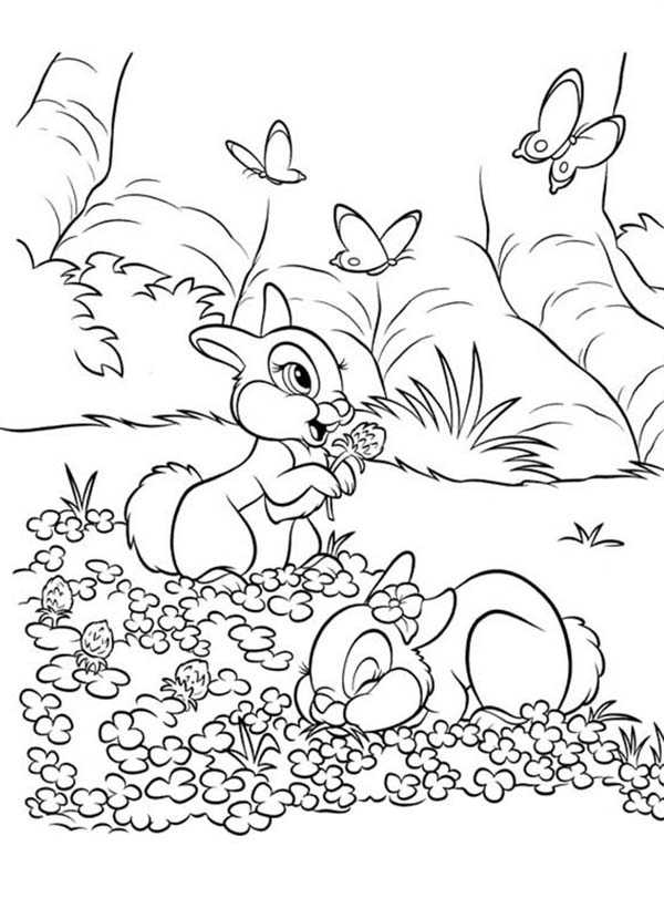 thumper bunny coloring pages - photo#26