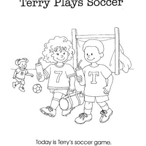 Todays Is Terry Soccer Game Coloring Page