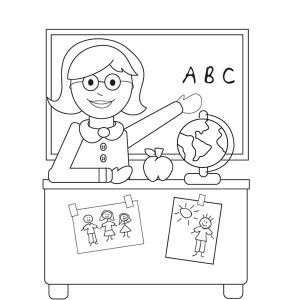 Welcome To Kindergarten On First Day Of School Coloring Page