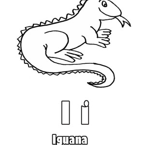 Iguana Sticking Out Its Tongue Coloring Page