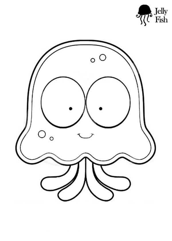 Jellyfish Cartoon Coloring Page Download Amp Print Online
