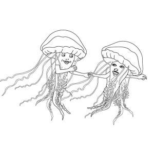 Jellyfish Dancing Coloring Page