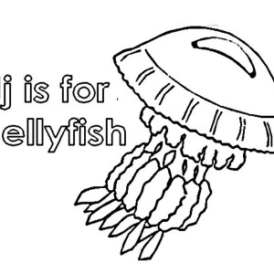 Letter J For Jellyfish Coloring Page