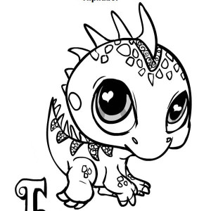 Little Iguana Toys Coloring Page