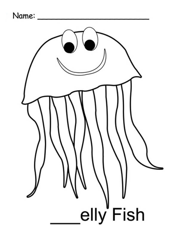 Mr Jellyfish Coloring Page - Download & Print Online ...