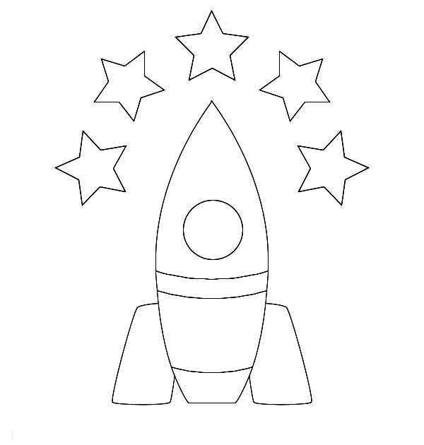 5 Star Rocket Ship Coloring Page - Download & Print Online ...