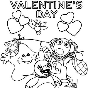 A Cheerful Valentine's Day Party Coloring Page