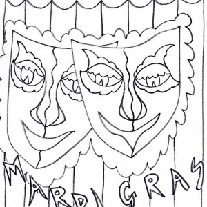A Common Symbol Of Mardi Gras Fest Coloring Page
