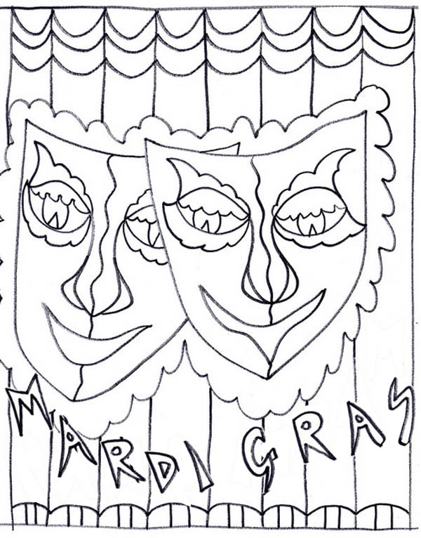 A Common Symbol Of Mardi Gras Fest Coloring Page Download Print