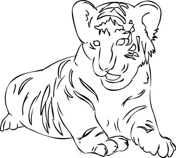 A Figure Of Siberian Tiger Cub