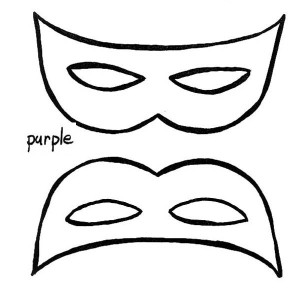 A Simple Mardi Gras Mask To Wear Coloring Page