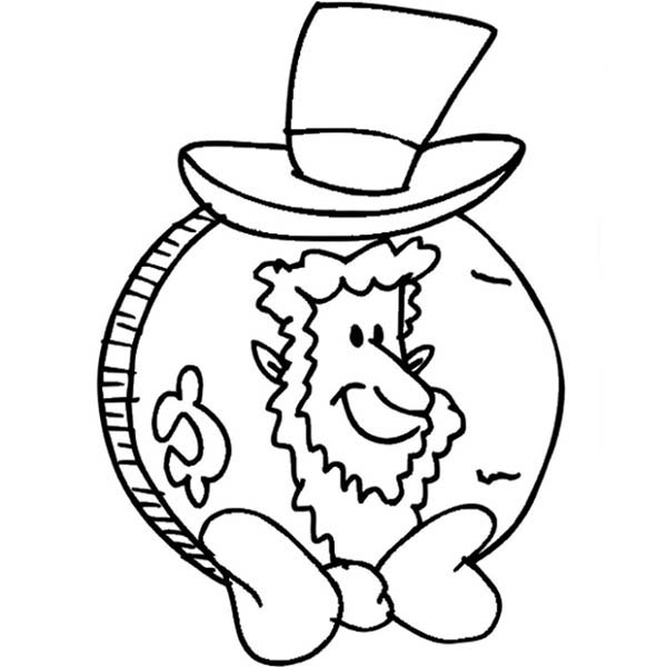 coloring pages abraham lincoln - abraham lincoln penny coloring page coloring page