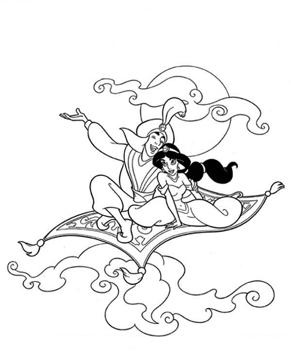aladdins carpet coloring pages - photo#6