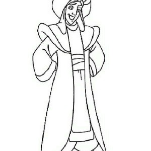 Aladdin In The Prince Dress Coloring Page