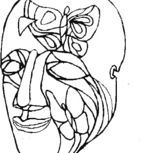 An Art Painting Mask For Mardi Gras Coloring Page