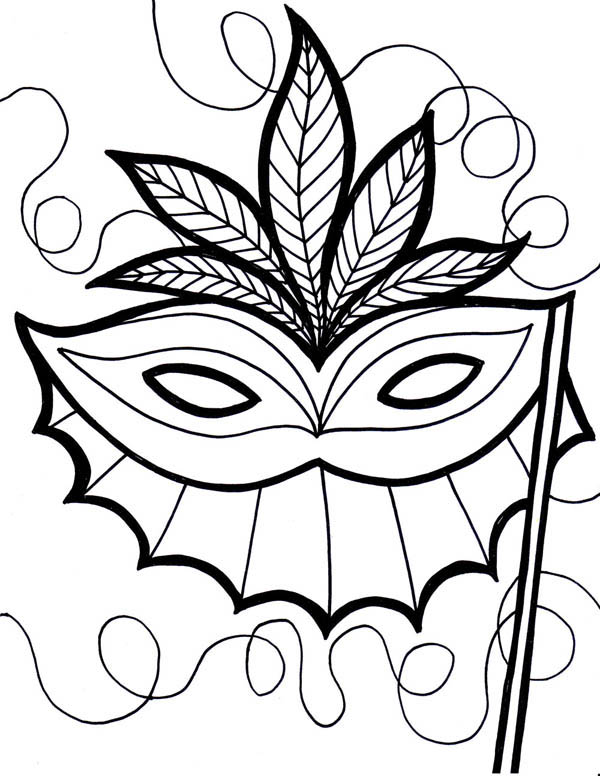 An Ethnic Mardi Gras Mask Coloring Page Download Print Online