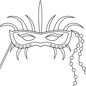An Ornametic Mardi Gras Mask Coloring Page