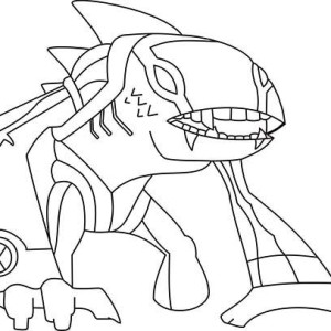 Articguana From Ben 10 Omniverse Coloring Page