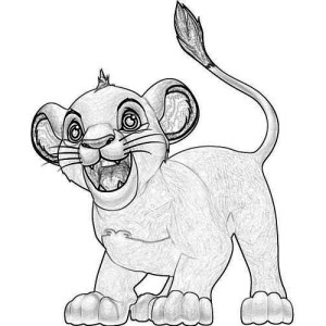 Awesome Baby Simba Coloring Page