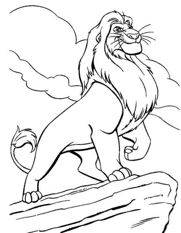 Awesome Mufasa Simba Father Coloring Page - Download ...
