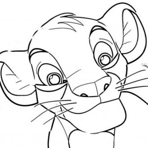 Awesome Simba Picture Coloring Page