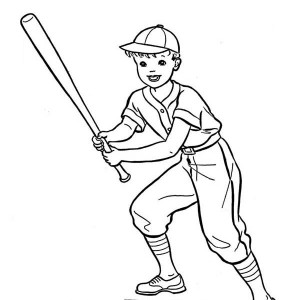 Baseball Game Coloring Page