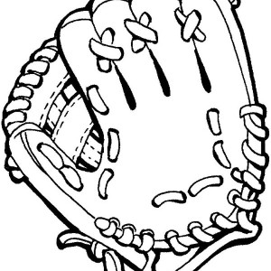 Baseball Glove Coloring Page