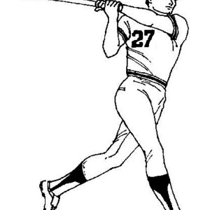 Baseball Player Coloring Page