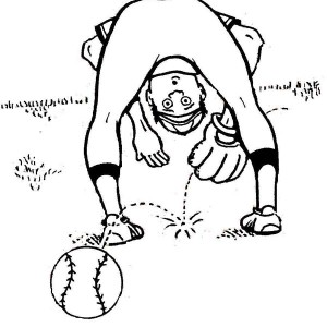 Baseball Player Lose The Ball Coloring Page