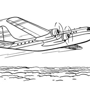 Be 200 Amphibian Airplane Coloring Page