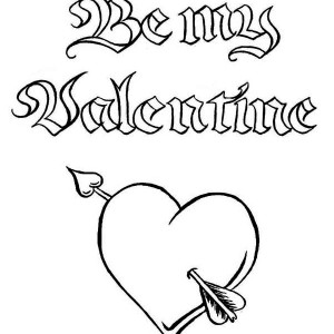 Be My Valentine, A Magic Word On Valentine's Day Coloring Page