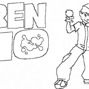 Ben 10 TV Poster Coloring Page