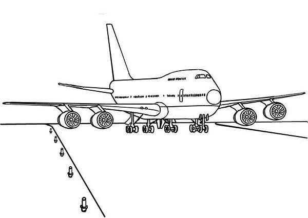 Boeing 747 Airplane Ready For Take