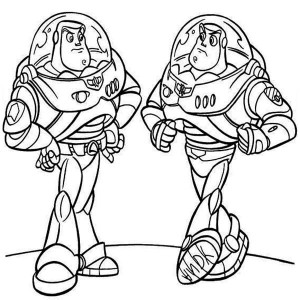 Buzz Meet His Twin In Toy Story Coloring Page