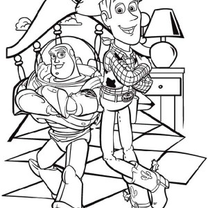 Buzz And Woody Are Two Best Budd Coloring Page