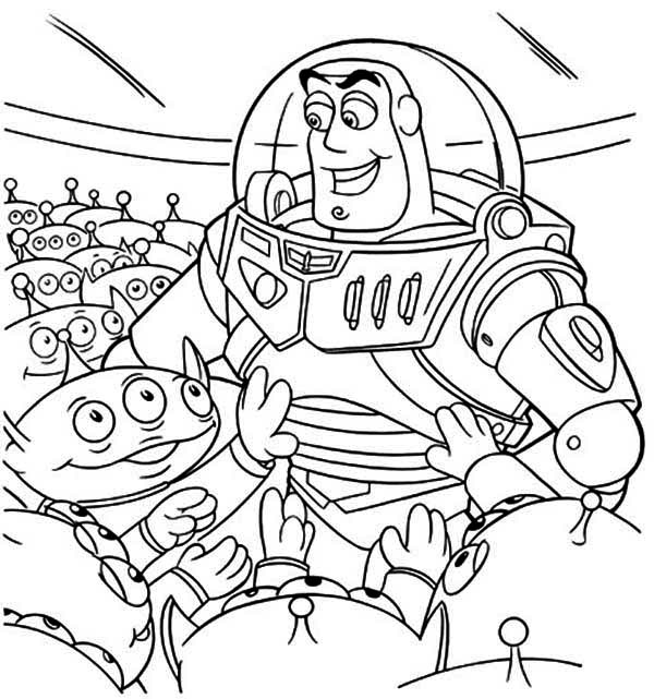 buzz bunny christmas coloring pages | Buzz And A Bunch Of Little Green Men In Toy Story Coloring ...