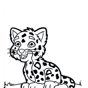 Cartoon Drawing Of A Cute Tiger Cub Coloring Page