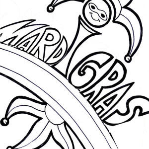 Celebrating Mardi Gras Festival On February 12th Coloring Page