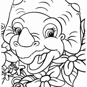 Cera Laugh Land Before Time Coloring Page