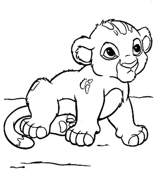 Cute Little Simba Coloring Page - Download & Print Online ...