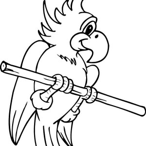 Cute Parrot Coloring Page
