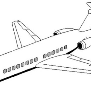DC 9 Airplane Coloring Page