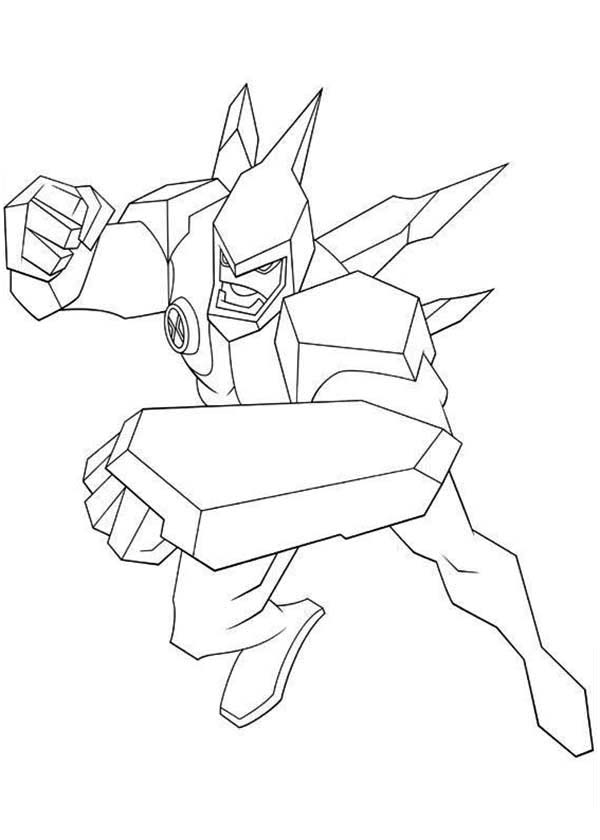 diamondhead from ben 10 omniverse coloring page download