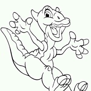 Ducky Jumps Land Before Time Coloring Page