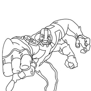Four Arms From Ben 10 Omniverse Coloring Page