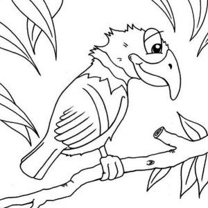Funny Parrot Coloring Page