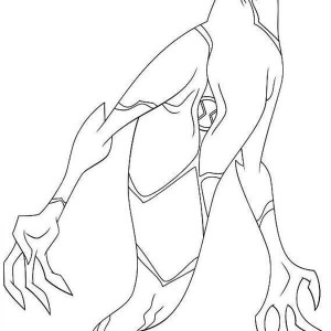 Ghostfreak From Ben 10 Omniverse Coloring Page
